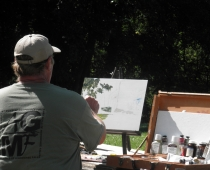 Mike Pogorzelski at Art in the Park, August 2010